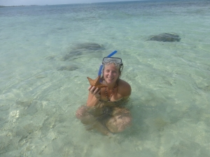 Snorkeling at the San Blas Islands, Panama