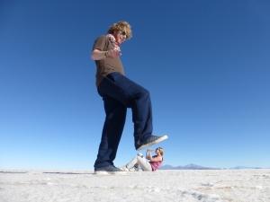 Fotoshooting auf der Salzfläche