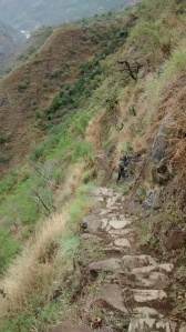 Der Weg der Inkas - immer schön am Abgrund