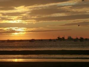 Sonnenuntergang an der Pazifikküste Nicaraguas