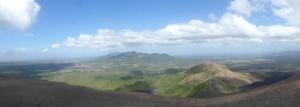 Der Panoramablick vom Vulkan