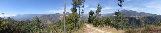 Panoramasicht vom Rekord Hill