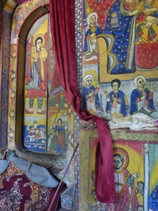 Inside one of the monasteries