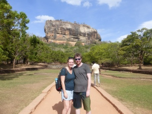 Posing in front of Sigiriya Rock