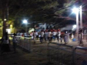 A crazy pilgrammage ceremony in Kataragama