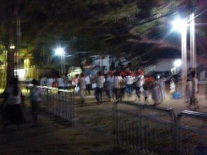 A crazy pilgrammage ceremony in Kataragama