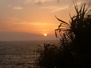 Sunset at Sri Lankas South Coast