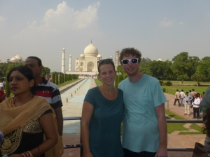Sick at the Taj Mahal