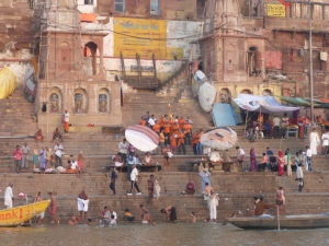 Morning rituals at the Ganges in Varanasi